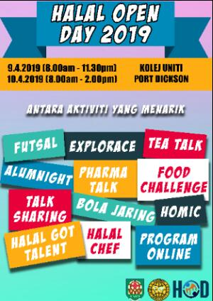 Halal Open Day 2019 Poster